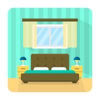 Flaches Schlafzimmer