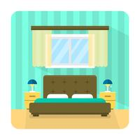 Chambre à coucher plate