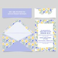 Vector Sweet Sixteen Floral Card