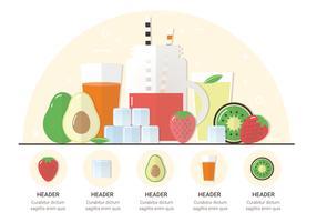 Vector Gran colección de frutas y verduras