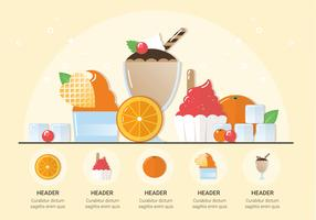 Vector Fresh Ice Cream Illustration
