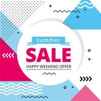 diseño de oferta de verano vector venta