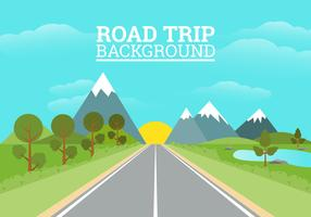 Illustration de fond Road Trip