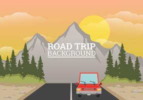 Road Trip Bakgrunds Illustration