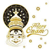 Happy Onam Gold Vector