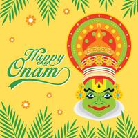 Happy Onam Background Vector