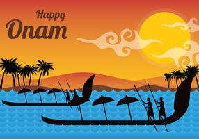 Illustration vectorielle de Onam heureux