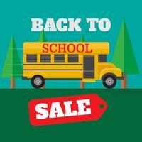 Ilustración de venta de regreso a la escuela