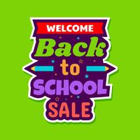 Cartel de venta de regreso a la escuela