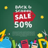 Back to School Sale Vector Background