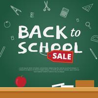 Fondo de Vector de venta de regreso a la escuela