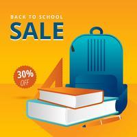 De volta ao vetor de venda de escola