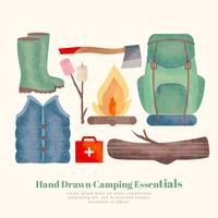 Vector Hand Drawn Camping Essentials