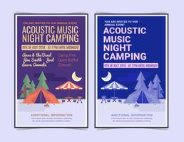 Vector Night Camping Poster