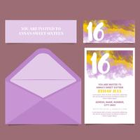 Vector Sweet Sixteen Card