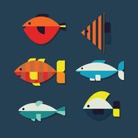 Pescado colorido plano