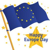 Europe Day Vector Background