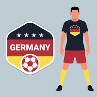 German Soccer Championship Emblem Design Template Set vector
