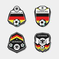 German Soccer Patches Vector
