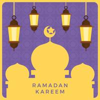Illustration vectorielle de Ramadan plat