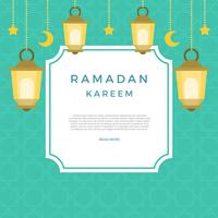 Flache Ramadan-Vektor-Illustration