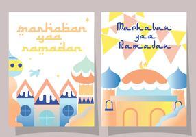 Diseño de Vector de tarjeta de felicitación de Ramadan