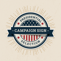 Campaign Sign Label vector