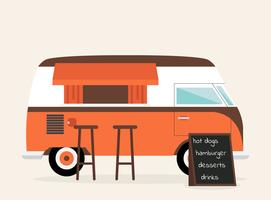 Camión de comida retro