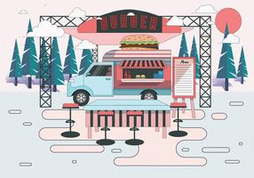 Food Truck Illustration Vector