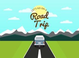 Escena de viaje por carretera