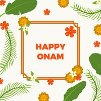 Flat Happy Onam Vector Illustration