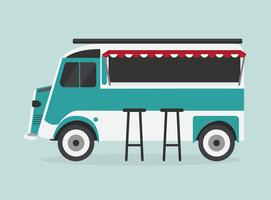 blauwe voedselvrachtwagen