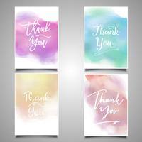 Thank you card collection vector