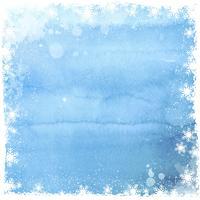 Aquarelle fond de flocon de neige de Noël