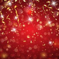 Christmas confetti and streamers background