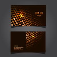 Techno dots business card