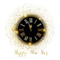 Confete ouro, feliz ano novo, fundo