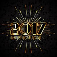 Modern Happy New Year background vector