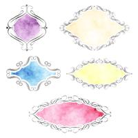 Watercolour decorative labels