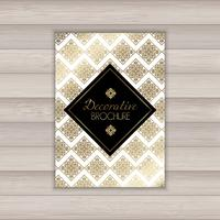 Decorative brochure design