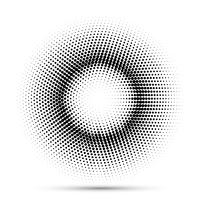 Halftone dot background  vector