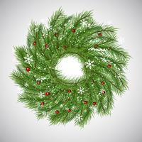 Christmas background with wreath