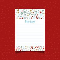 Carta de navidad a santa
