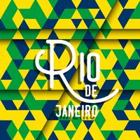 Abstract geometric Rio de Janeiro background