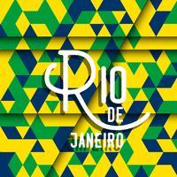 Abstrakter geometrischer Rio de Janeiro-Hintergrund vektor