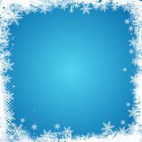 Grunge Schneeflocke Grenze