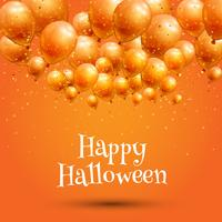 Happy Halloween background with balloons