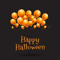 Happy Halloween balloon background