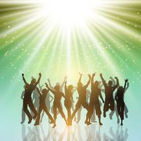 Party people on a starburst background 2406 vector