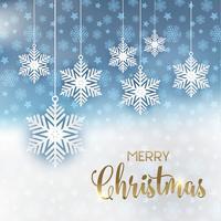 Fundo de flocos de neve de Natal